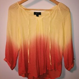 Yellow and Pink Blouse
